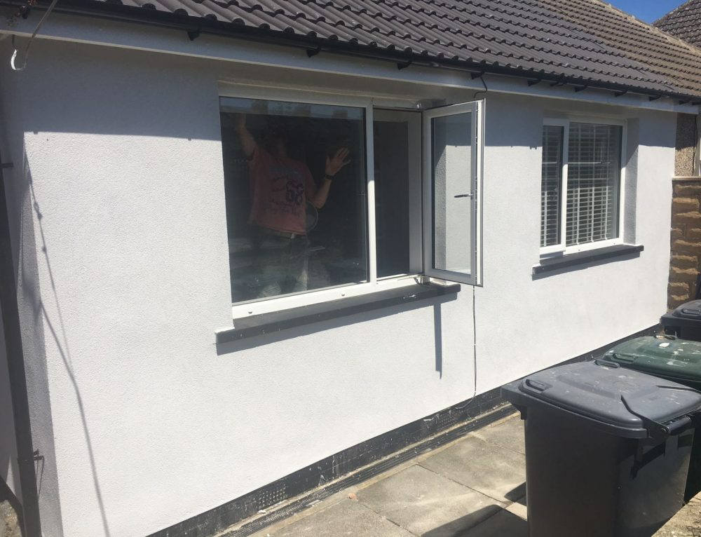 Colour Silicone Rendering of bungalow in Keighley