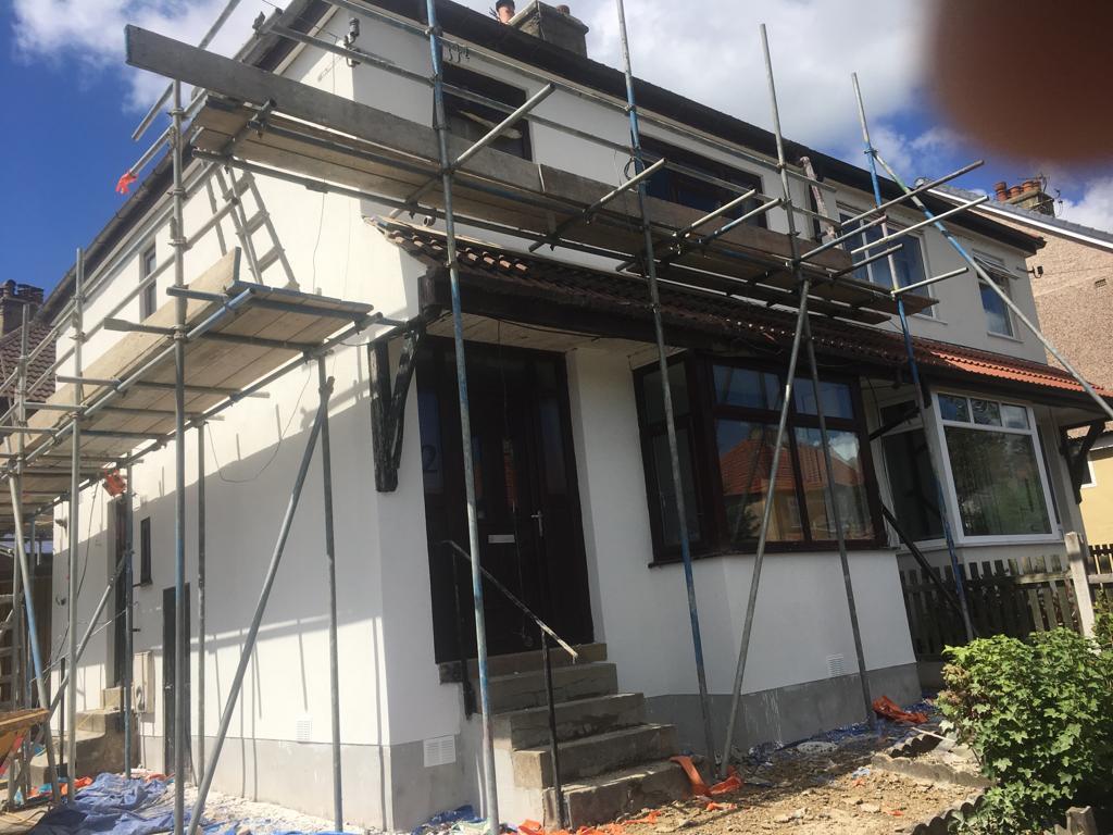 coloured house rendering baildon