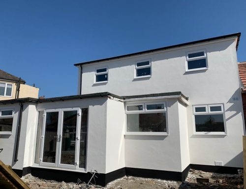 Coloured Rendering System on house in Leeds